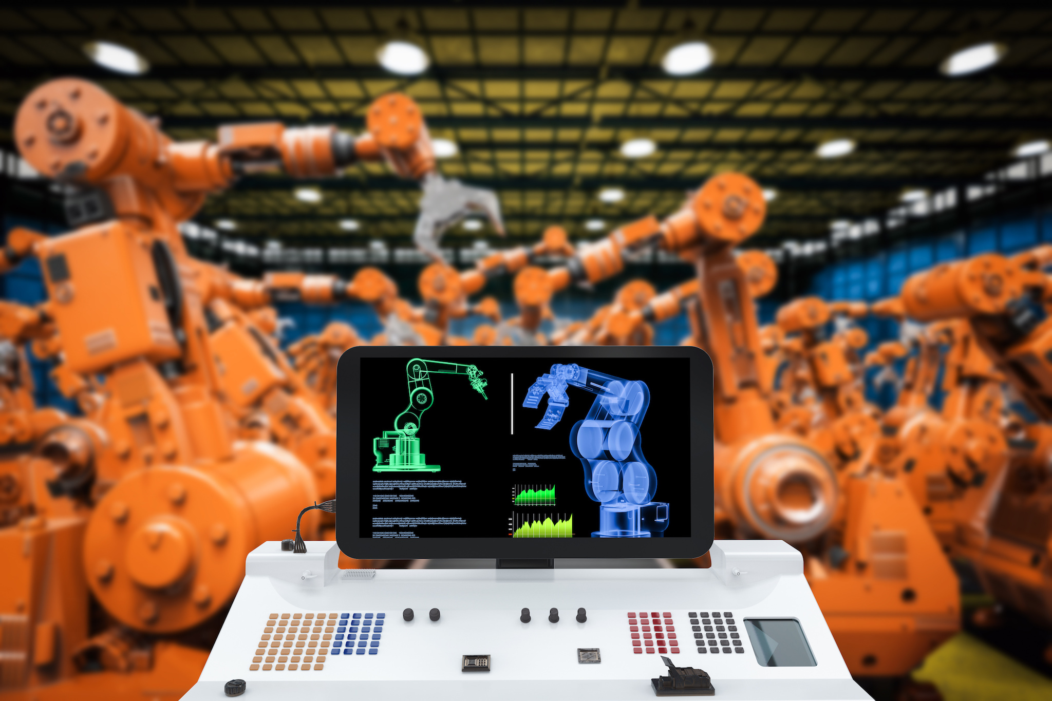 Industrie und Roboter