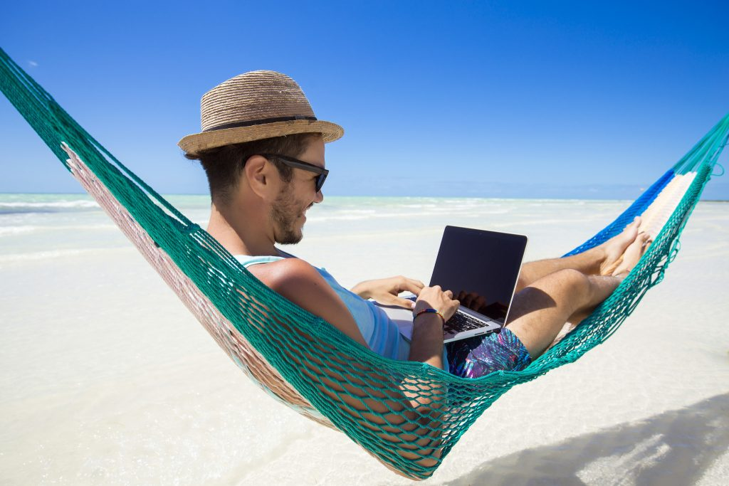 Digital nomad, entrepreneur working online.