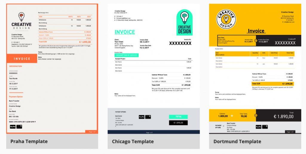 free invoice template zistemo