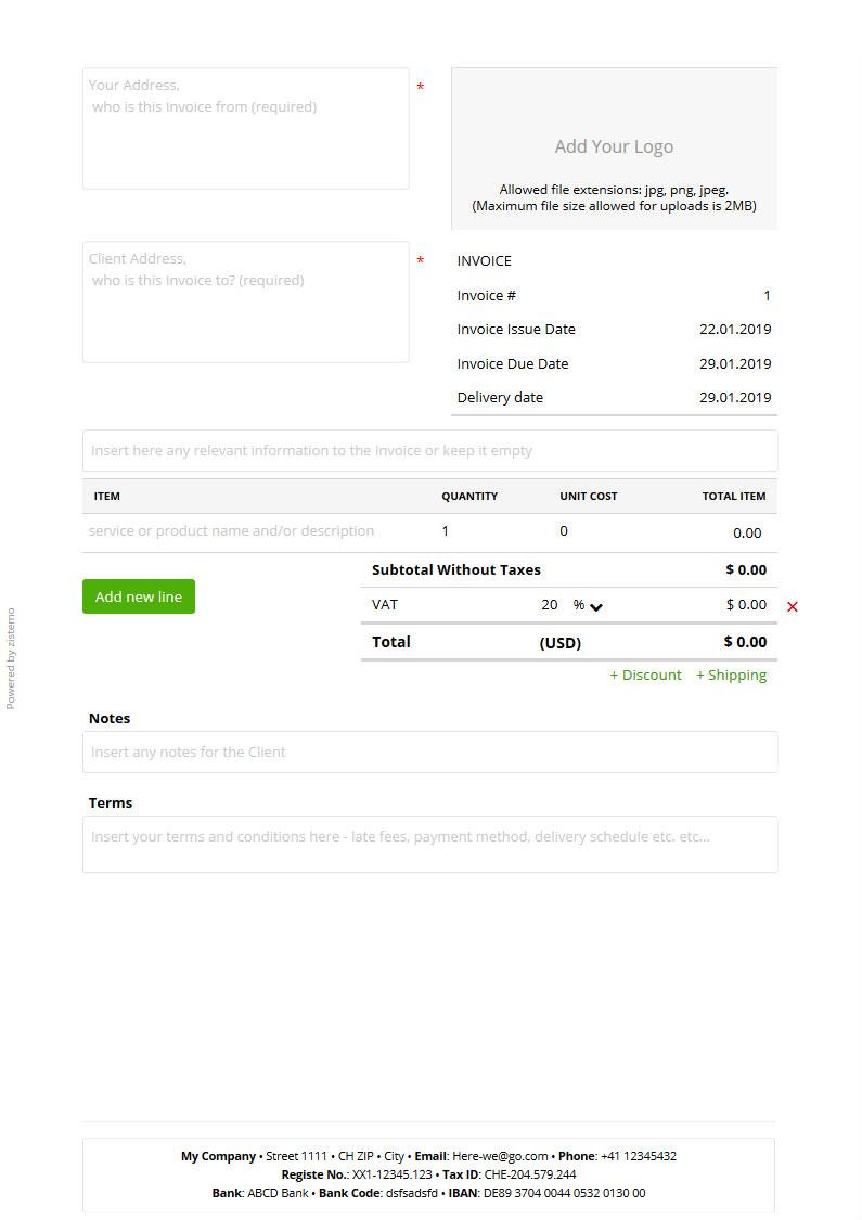 Rechnungsvorlage Kostenlos Zum Download